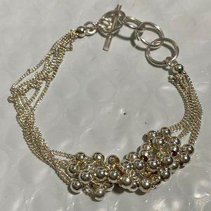 Multi Strand Sliding Ball Sterling Silver Bracelet